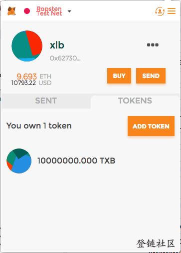 创建的代币