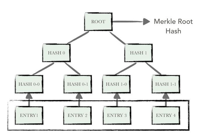 典型的默克尔树结构