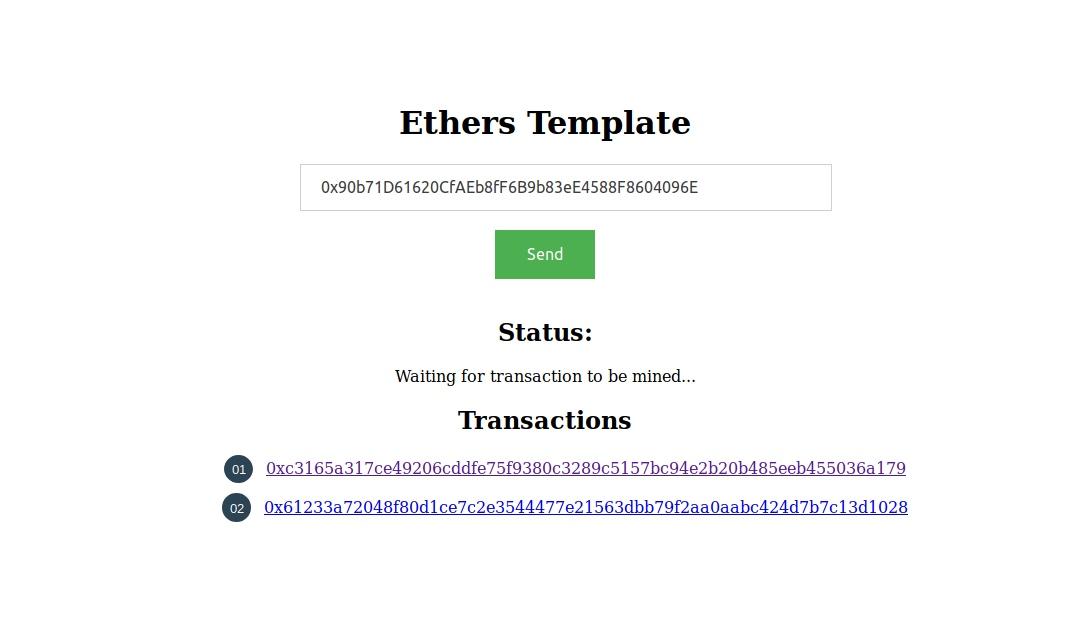 用Ethers.js构建一个简单的DApp