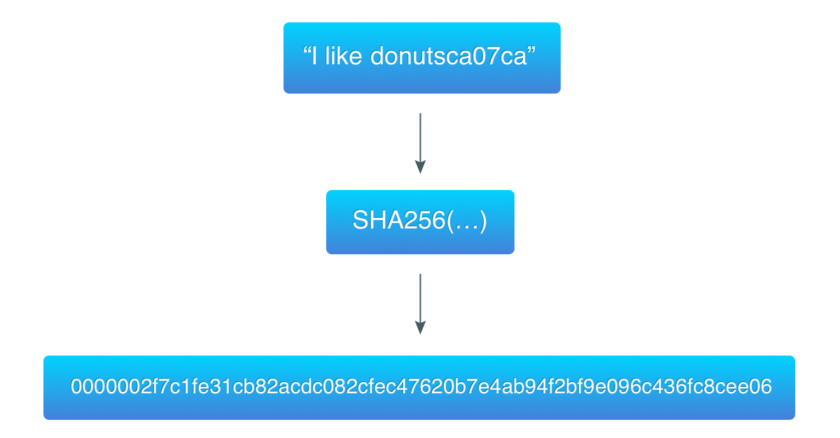a hash that starts with 3 zero-bytes