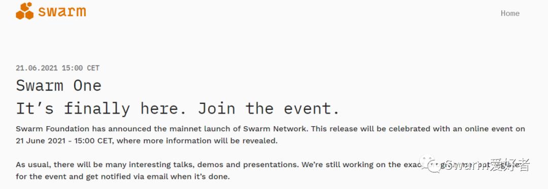 Swarm主网启动最新消息:所有节点升级为Bee v1.0-rc5